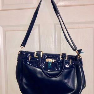 Handbags - Blue leatherette handbag new
